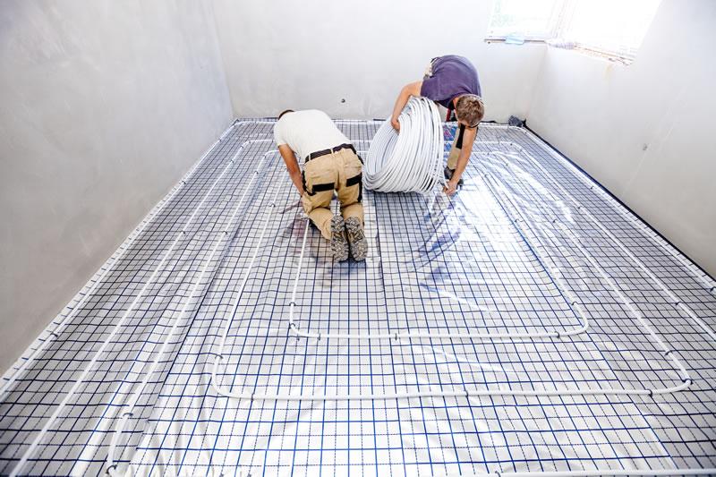 Lower energy bills with underfloor heating